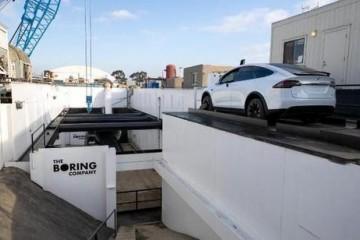 马斯克旗下Boring公司测试地下汽车隧道时速64公里效果似乎一般
