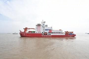 中国第12次北极科学考察队搭乘雪龙2号出征北极
